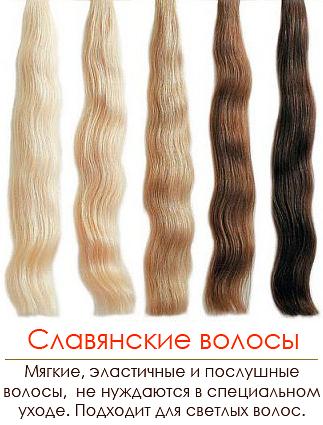 Виды и типы волос